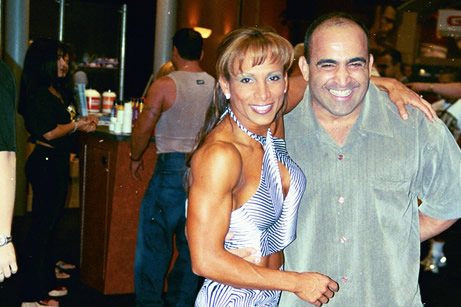 Adella Friedmansky and Joe Antouri in Las Vegas at the Joe Weider Olympia expo.