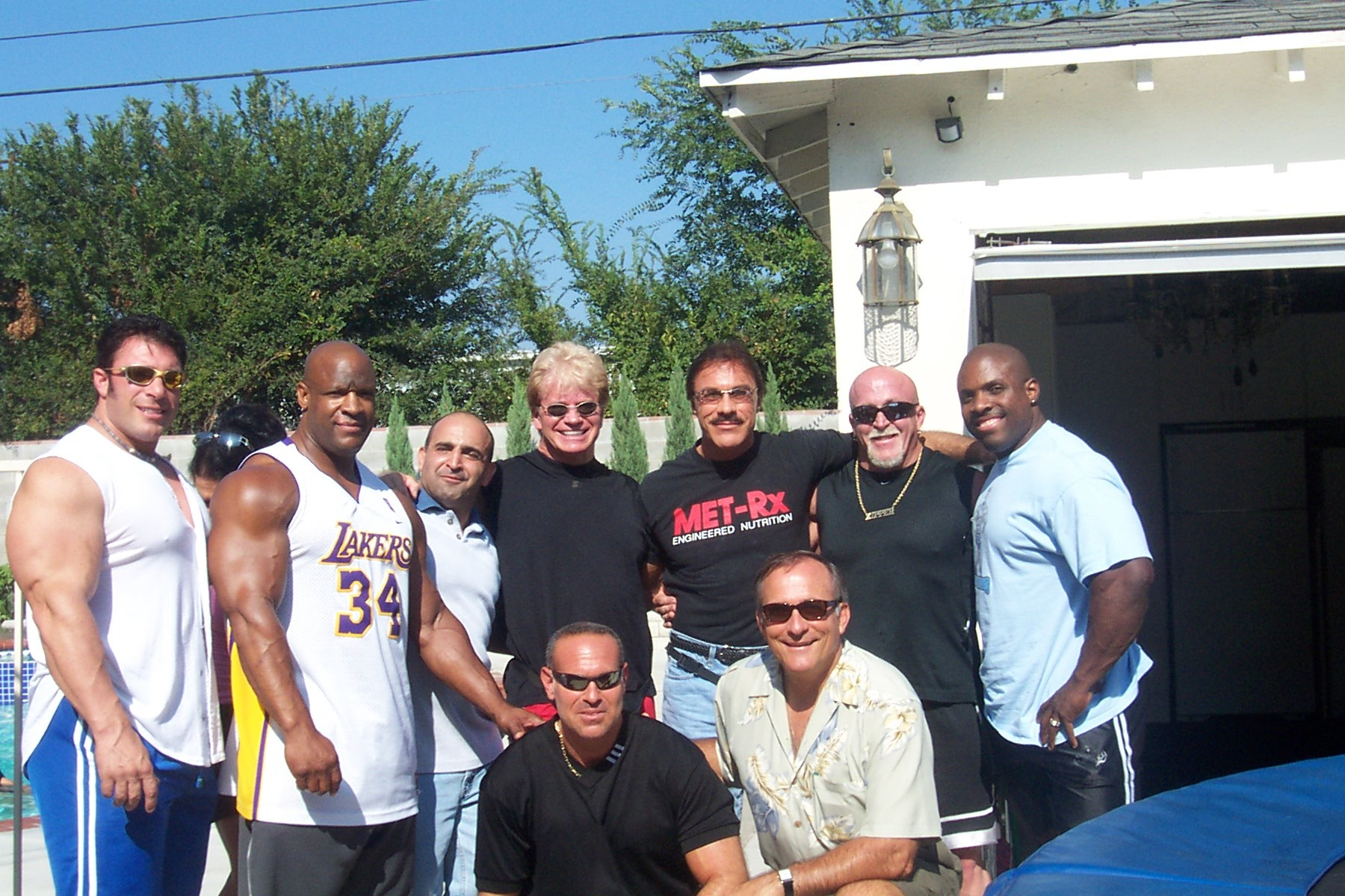 Gathering of the greats at the house.