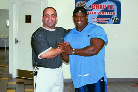 Joe Antouri and Master Mr. Olympia Vince Taylor