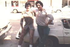 Joe antouri and Samir Bannout in 1978 at Golds Gym on 2nd street in Santa Monica, CA.