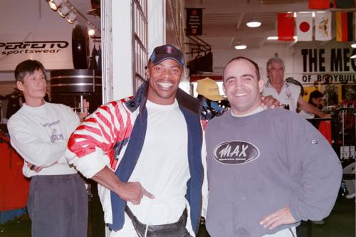 Aaron Baker and Joe Antouri at Golds gym in Venice, CA
