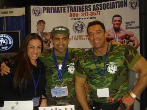 Amy Piacentino, Joe Antouri and CLaude Groulx Master Mr. Olympia