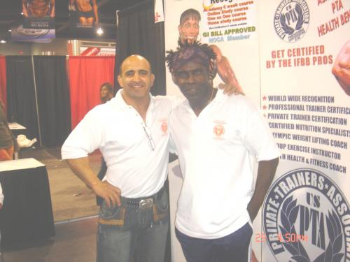 Joe antouri with Robby Robinson in 2009 at the FITEXPO