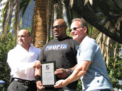 Honoring the Greatest Body Builder of all time Ronnie Coleman with a Lifetime Acheivement Awards.